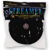 "Black - Crepe Streamers 1.75""X500'"
