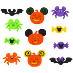 Dress It Up Licensed Embellishments - Disney Mickey & Minnie Halloween