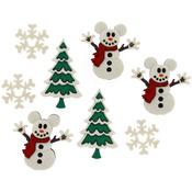 Dress It Up Licensed Embellishments - Disney Mickey Snowmen