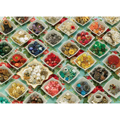 """Grandma's Buttons - Jigsaw Puzzle 1000 Pieces 10""""X14"""""""