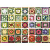 "Granny Squares - Jigsaw Puzzle 1000 Pieces 10""X14"""