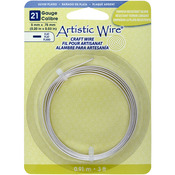 Artistic Wire Flat - Silver - Plated - 21 Gauge, 5mmX.75mmX3'