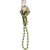 Neon Gray/Yellow - Nandog Tuff Love Tennis & Rope Dog Toy