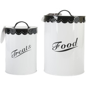 Black - Food & Treat Canister Set