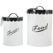 Black - Food & Treat Canister Set