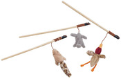 Rabbit, Duck Or Chipmunk - Skinneeez Forest Friends Wand For Cats 12""