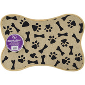 "Bone Shape - Bone & Paws - Signiture Placemats 13""X19"""