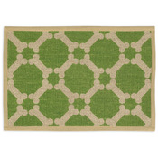 "Green - Natural Jute Placemats 13""X9"""