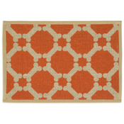 "Orange - Natural Jute Placemats 13""X9"""