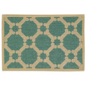 "Teal - Natural Jute Placemats 13""X9"""