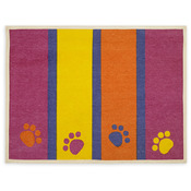 "Paws & Stripes - Fashion Forward Cotton Mat 13""X9"""
