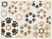 "Paw Flowers - Fashion Forward Cotton Mat 13""X19"""