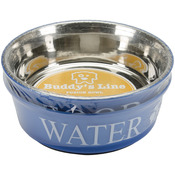 Blue - Food & Water Set Large 2qt