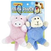 Mini Plush 2pk Puppy Toys - Pig And Monkey