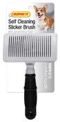 Soft Grip Dog Self Cleaning Slicker Brush Medium-