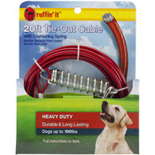 Heavy Duty Cable Tie Out W/Cushioning Spring 20ft-
