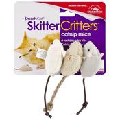 SmartyKat SkitterCritters Catnip Mice 3 Pack
