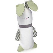 Green - Loved Ones Crinkle Bunny Dog Toy