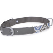 Blue - Loved Ones Fashion Dog Collar W/Tag Silencer - Extra Small