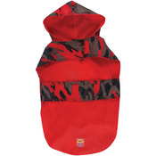 """Jelly Wellies Camouflage Raincoat Small 13""""-Red"""