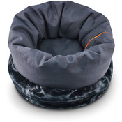 """P.L.A.Y. Extra Large Snuggle Bed 25"""" Diam X 36""""-Charcoal Gray"""