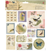"Papermania Nature's Gallery Stickers 8""X8""-Labels"