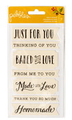 Just For You Harvest Flour Stack Fabric Stickers - Pebbles