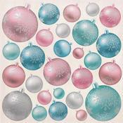 Baubles Foil Accented Paper - Silver Bells - KaiserCraft