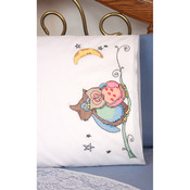 "Stamped Perle Edge Pillowcases 30""X20"" 2/Pkg - Loving Owls"