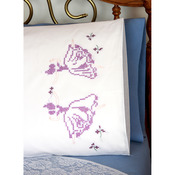 "Stamped Perle Edge Pillowcases 30""X20"" 2/Pkg - Dancing Ladies"