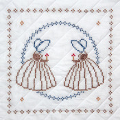 "Stamped Quilt Blocks 18""X18"" 6/Pkg - Candle Lady"