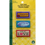 Made With Love - Dritz Quilting Sew-In Embroidered Labels 9/Pkg