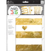 Create 365 Dividers - Gold Me And My Big Ideas-Create 365 Dividers. Add some glam to your Happy Planner by adding these specialty dividers. This package contains eight 9-1/4x7 inch pre-punched dividers embellished with foil, in different designs. Imported.