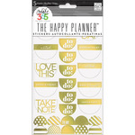 Take Note Gold Foil - Create 365 Stickers 5 Sheets/Pkg