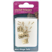Christi Friesen Mini Hinges 4/Pkg - Brass