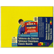 "Classic Poster Board 11""X14"" 5/Pkg -Assorted Colors"
