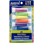 6 Colors - Neon Glitter Shakers 6/Pkg