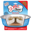 Gobble Stopper -For Bowls Up To 6  In Diameter- Loving Pet Products-Gobble Stopper. Gobble Stopper effectively slows down feeding up to 500%! Gobble Stopper helps stop the gulping of food, thus avoiding vomiting, choking and bloating-the #2 health risk for dogs. The unique canopy design forces dogs to eat underneath. No other slow feeder can compare. Simply stick the suction cup to the bowl bottom and watch your dog eat slower. This package contains one 1-1/2x2-1/2x2-1/2 inch Gobble Stopper. Works in any bowl (up to 6 inches in diameter). Dishwasher Safe. Imported.