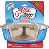 Gobble Stopper -For Bowls Up To  6-8  In Diameter- Loving Pet Products-Gobble Stopper. Gobble Stopper effectively slows down feeding up to 500%! Gobble Stopper helps stop the gulping of food, thus avoiding vomiting, choking and bloating-the #2 health risk for dogs. The unique canopy design forces dogs to eat underneath. No other slow feeder can compare. Simply stick the suction cup to the bowl bottom and watch your dog eat slower. This package contains one 1-3/4x3-1/4x3-1/4 inch Gobble Stopper. Works in any bowl (6 to 8 inches in diameter). Dishwasher Safe. Imported.
