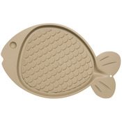 "Bella Spill - Proof Fish Shaped Cat Mat 19""X12""-Tan"