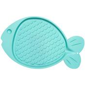 "Bella Spill - Proof Fish Shaped Cat Mat 19""X12""-Green"