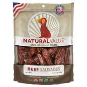 Natural Value Treats 14oz - Beef Sausages