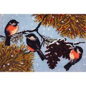 """Winter Birds - Latch Hook Kit 40""""X27"""""""