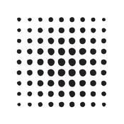 """Square Halftone - Magenta 6""""X6"""" Stencils"""