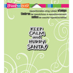 """Keep Calm - Stampendous Christmas Cling Rubber Stamp 4.75""""X4.5"""""""