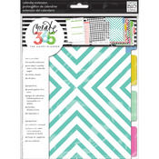 The Happy Planner Month Extension Pages - Teal/Gold