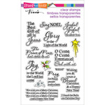 """Stampendous Perfectly Clear Christmas Stamps 4""""X6"""" Sheet - Joyful Phrases"""