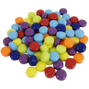 Assorted Colors - Mosaic Dots Glass Rounds 8oz