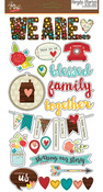 We Are Family Chipboard Stickers - Simple Stories