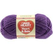 Purple - Red Heart Heart & Sole Yarn